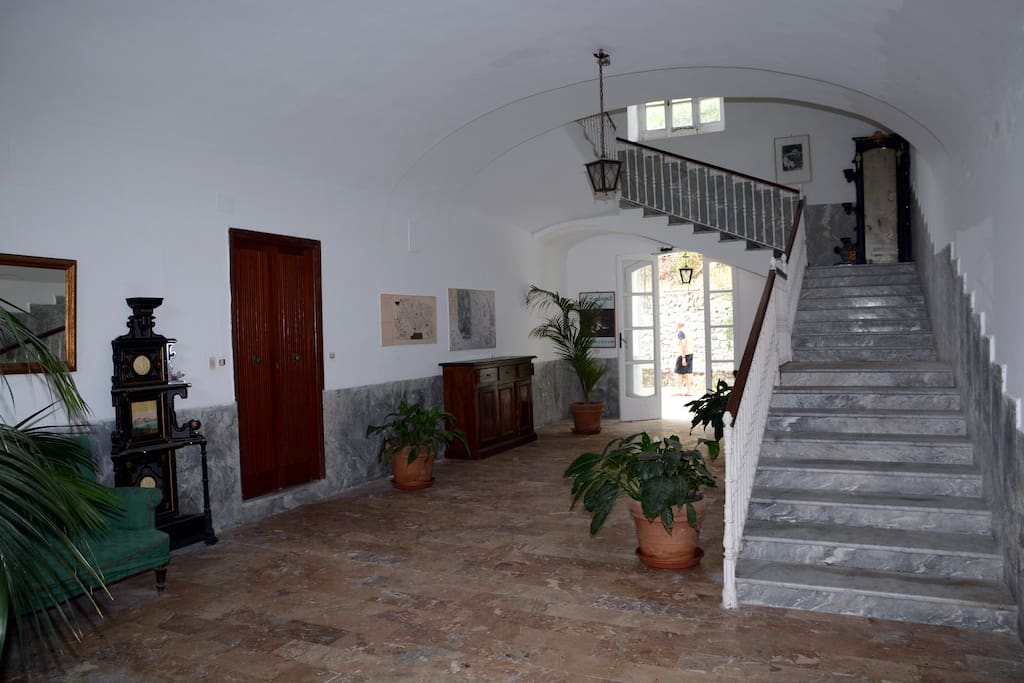 the villa villari main apartment entrances our door is on the write just before the stairs