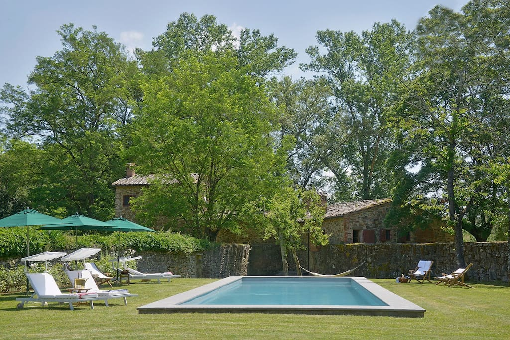 Lounge by the pool amidst the Italian countryside
