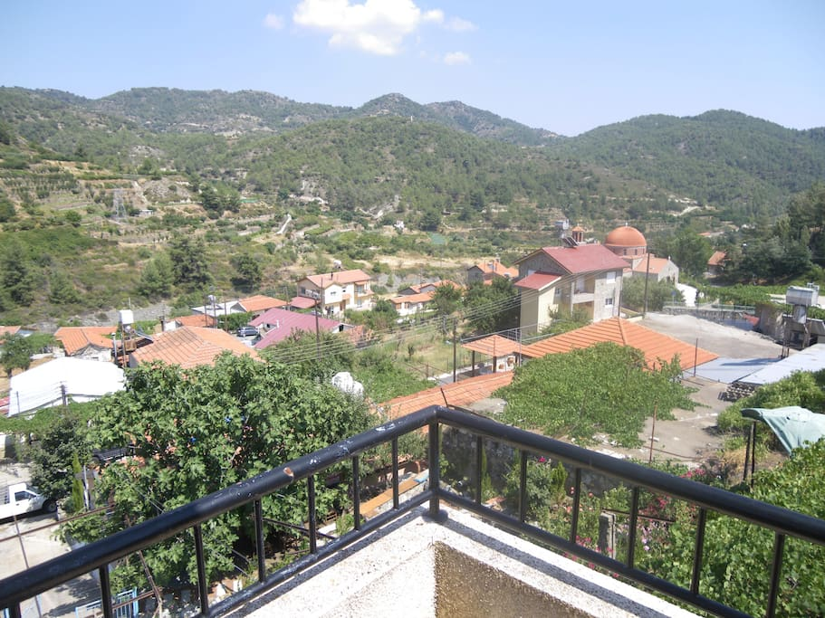 panoramic terrace and unique mountain and village view