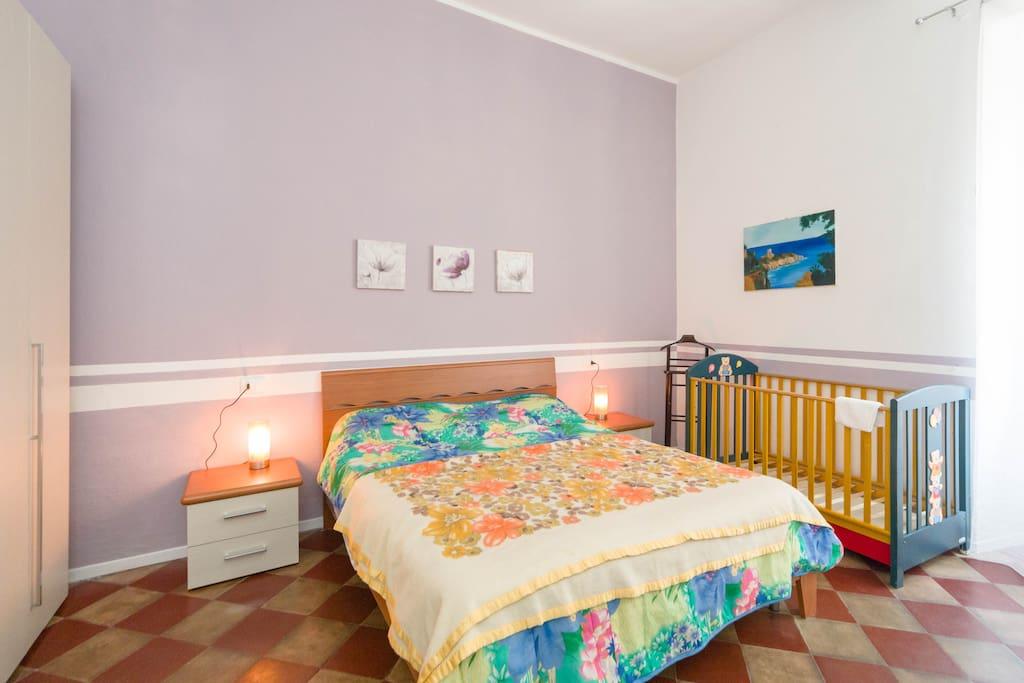 Camera matrimoniale con possibilità letto bambini e/o terzo letto