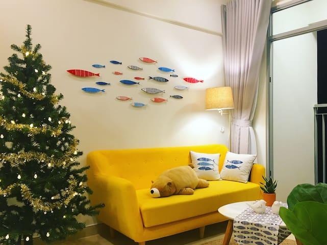 Yellow sofa in Livingroom