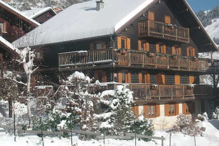 appartement centre village 2 ch, chalet ancien - Le Grand-Bornand