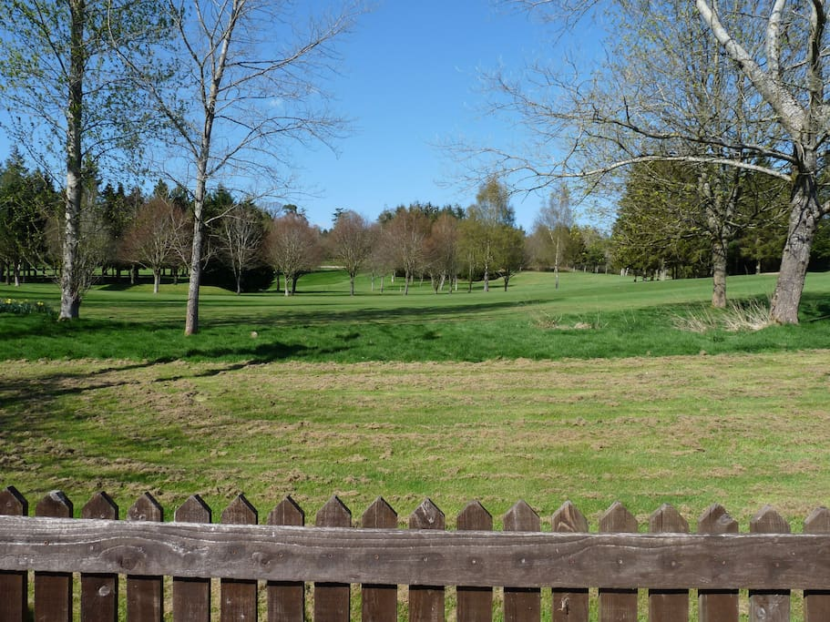 A view of the 17th fairway of Cradoc golf club.