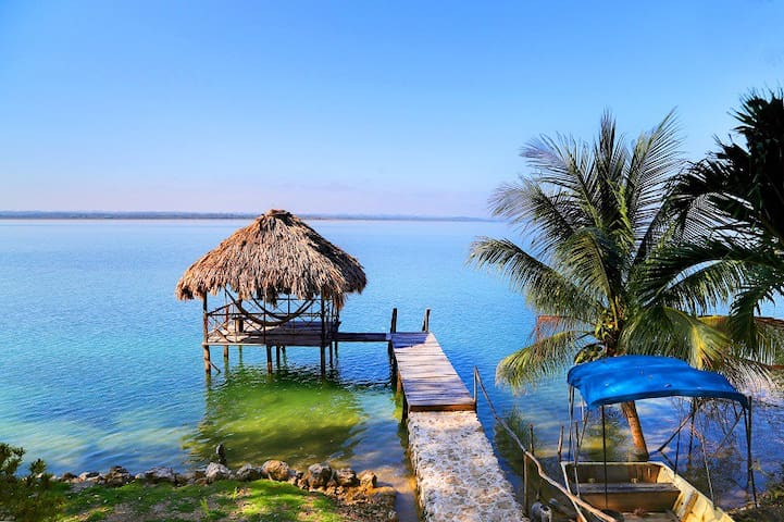 Room in 3 bed house, private beach