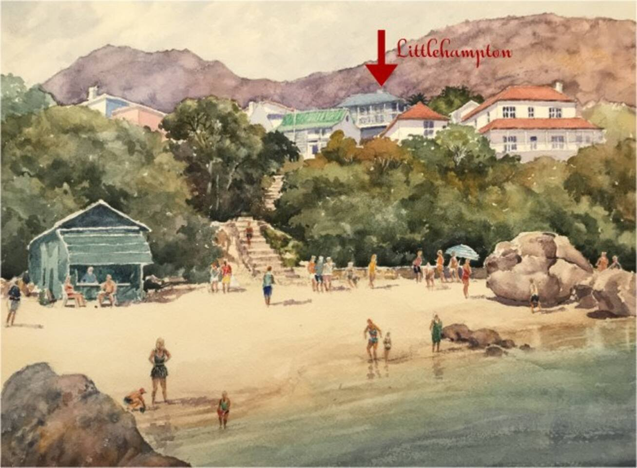 Beautiful Boulders Beach from an artist point of view