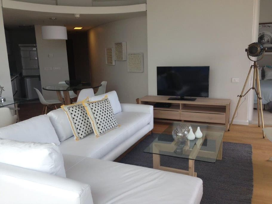 Lounge dining room and kitchen with all appliances including dishwasher, washing machine/tumble dryer, large fridge freezer