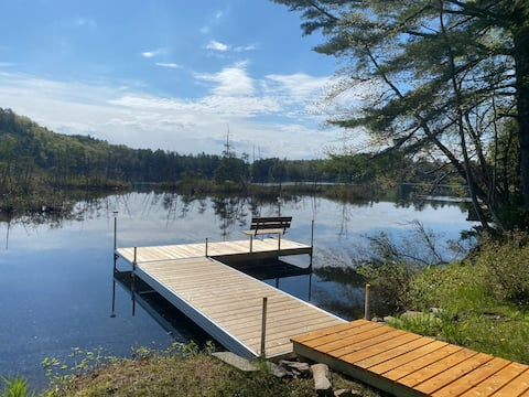 ! WATERFRONT Western Maine Chalet - Action Packed