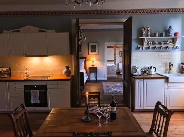Wohnen im Gutshaus, Cecilie - große Whg für 4 Pers
