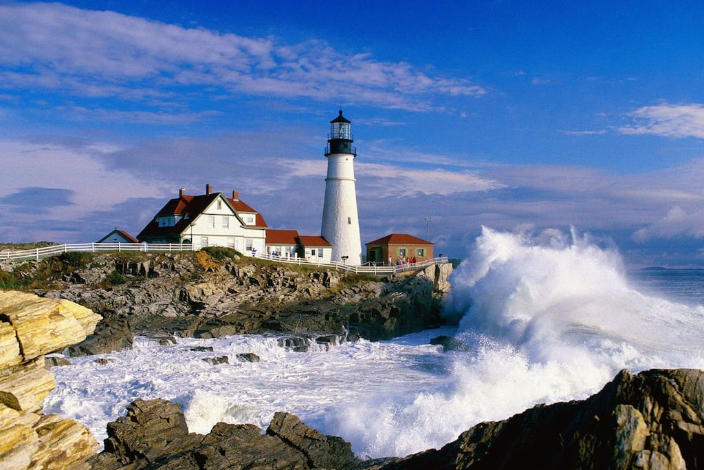 Portland Head Light/Fort Williams, about one mile away and an easy walk or bike ride.