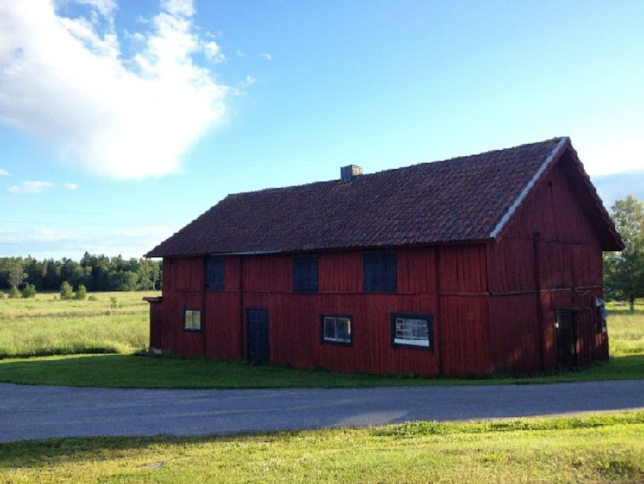 This is one of two barns on the property...
