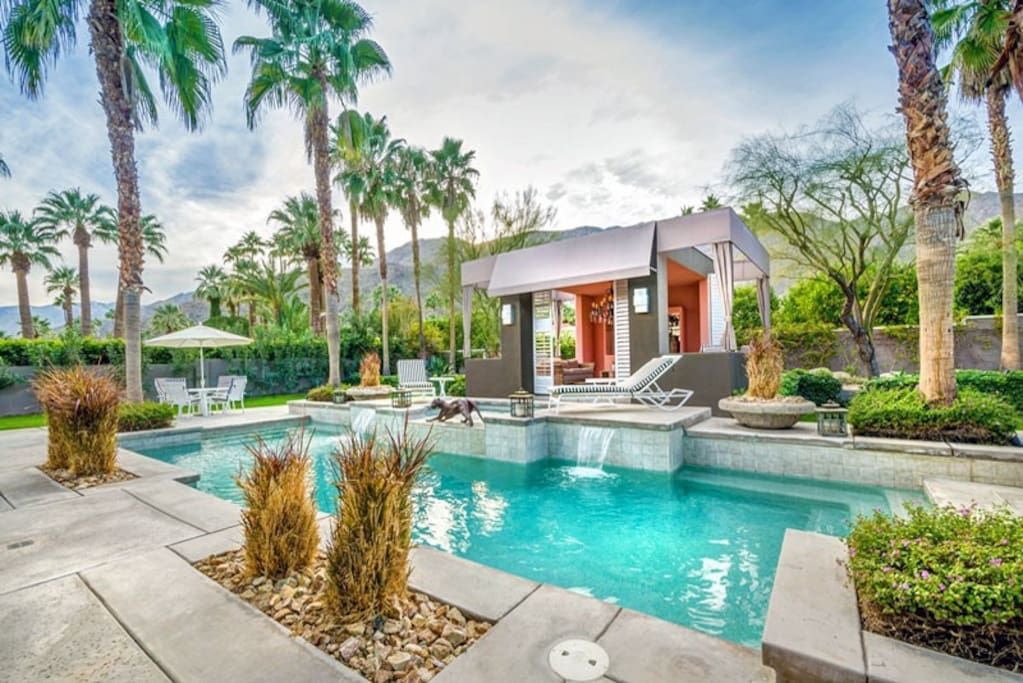 Beautiful Backyard with Private Pool, Spa and Cabana