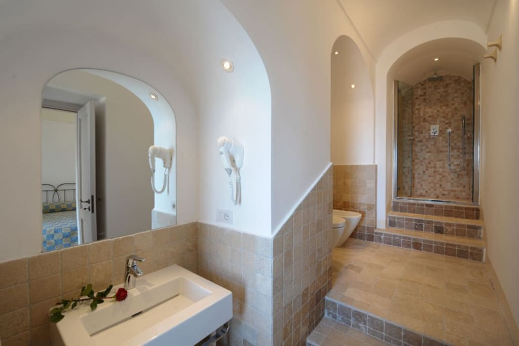 Private bathroom with  of Olivaio Special Double Room of Villa Il Frantoio