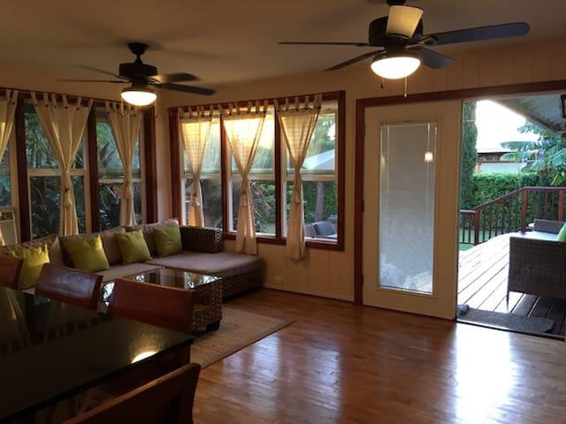 Zen Villa Haleiwa,Green house 3bed/3bath!