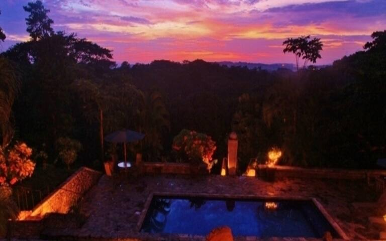 One of the most beautiful sunsets in all of Costa Rica