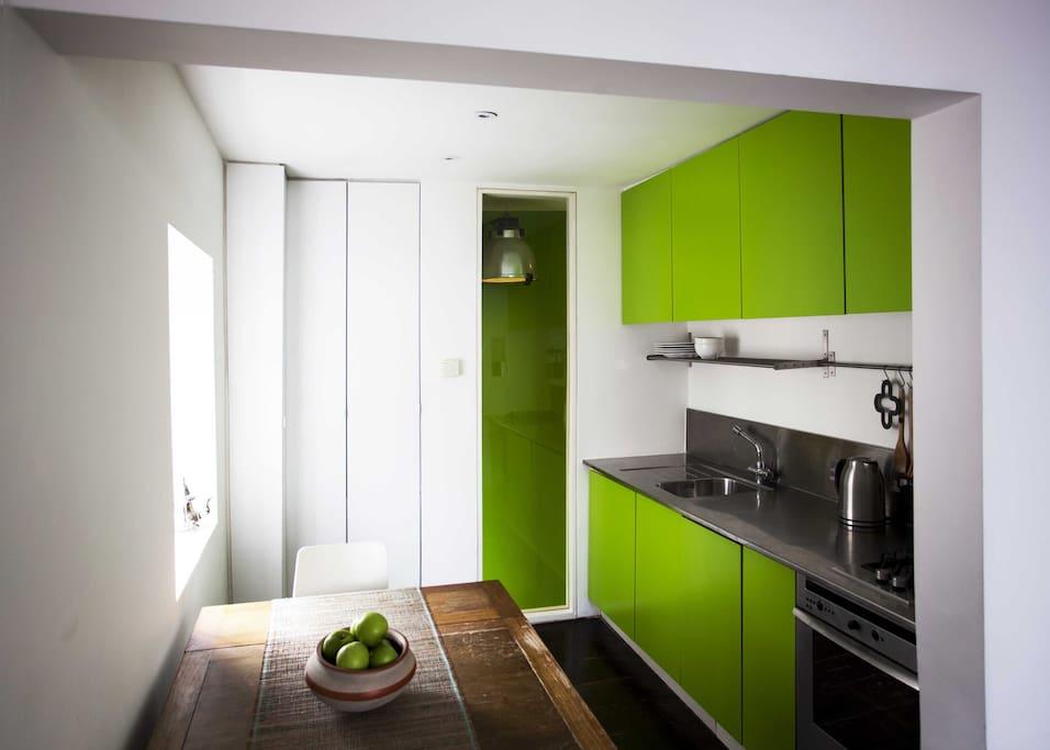 The Kitchen > The green kitchen!