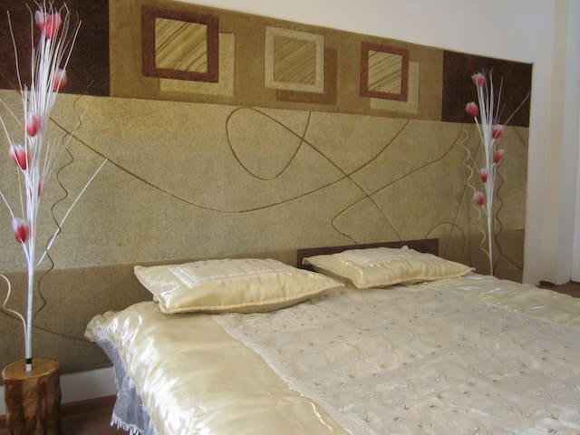 Queen size bed in second bedroom.
