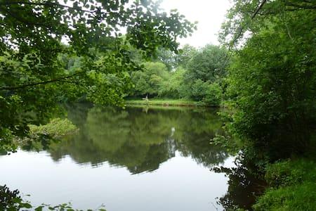 Gîte à la campagne avec étang privé 5 personnes - Malansac