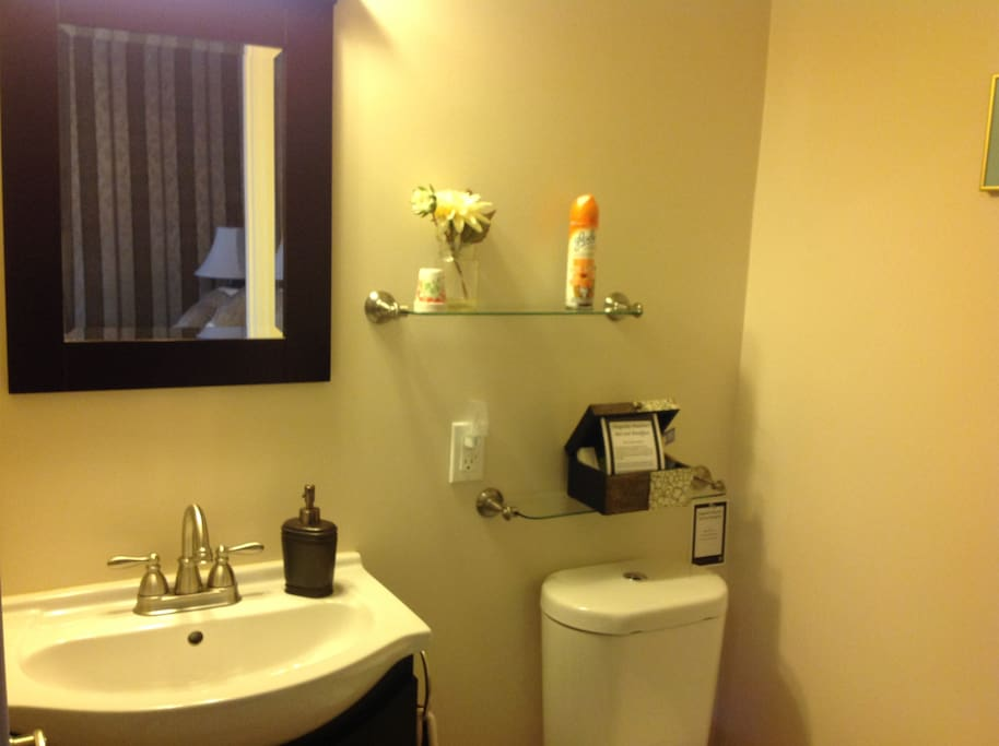En suite with large shower.
