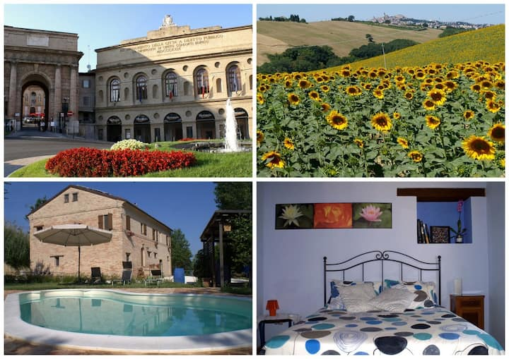 Marche farmhouse with pool