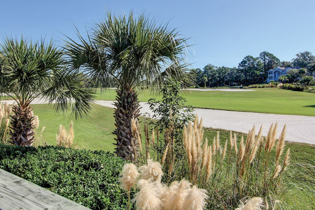 Take in the panoramic views of the the George Fazio Golf Course from the property.