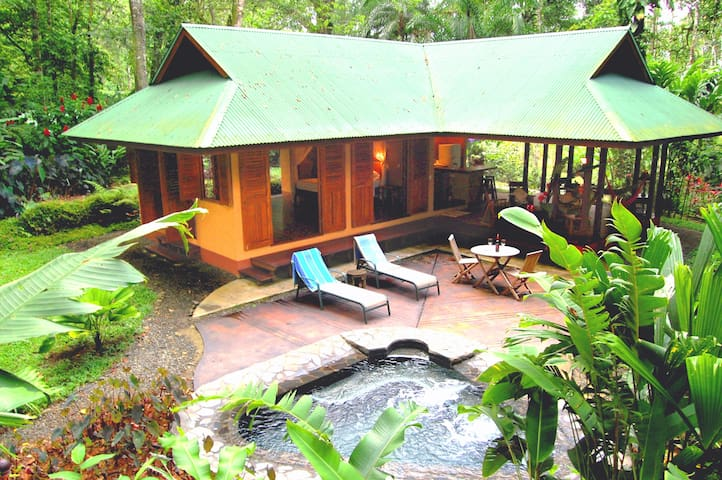 luxurious and romantic villa in rainforest garden
