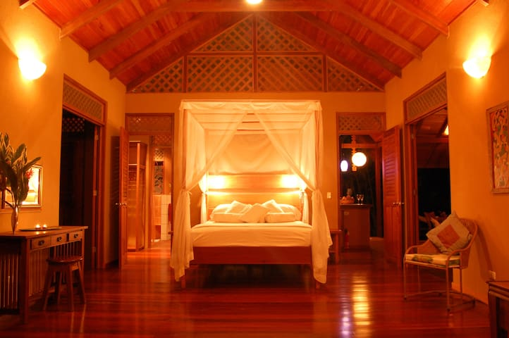 At the end of a another gorgeous Caribbean day, you'll sleep well at Casa del Bosque!