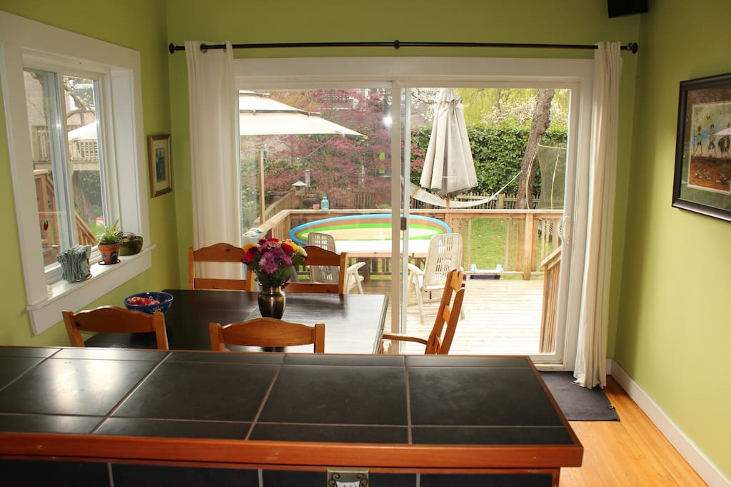 Dining room heading outside