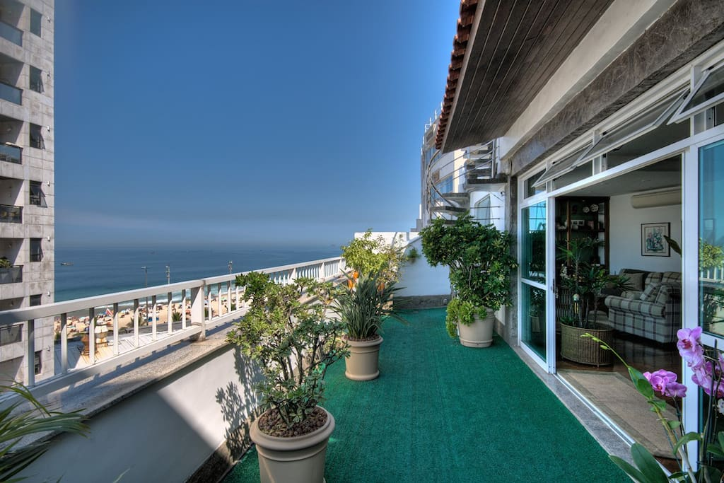 Garden verandah and sea view
