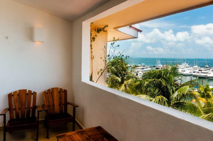 Loft frente al mar!! Con Espectacular vista Cancún