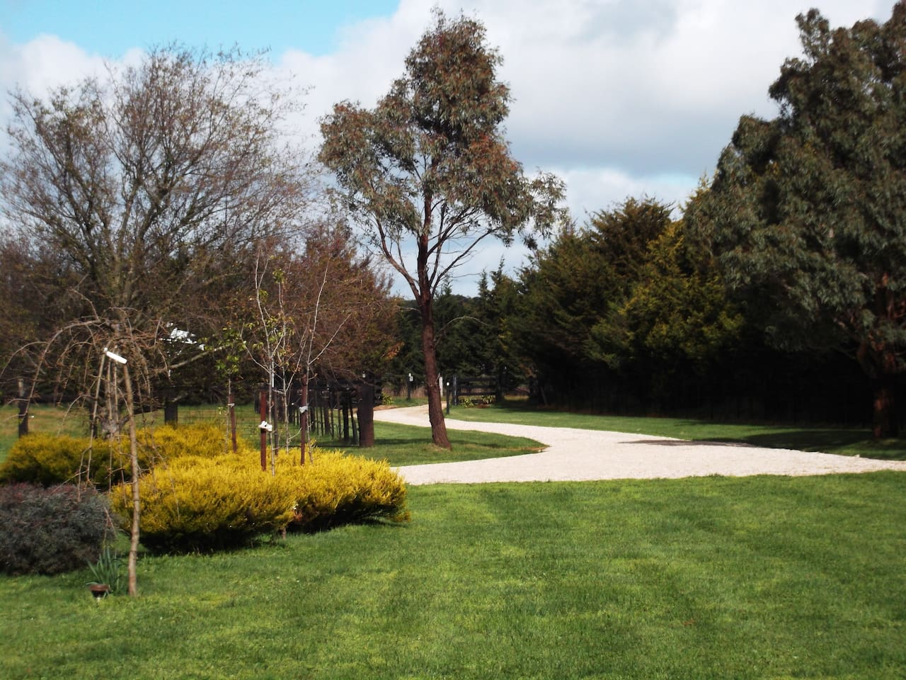 Picturesque driveway and garden area leading to the B&B.