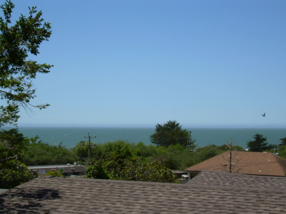 Ocean View from Deck (only about 50 degrees of the full cottage view).