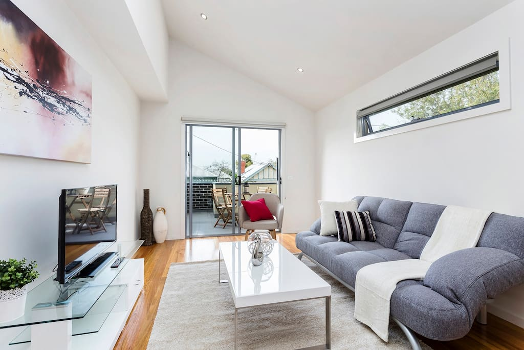 Light filled and very airy upstairs living space leading to the outside entertaining area