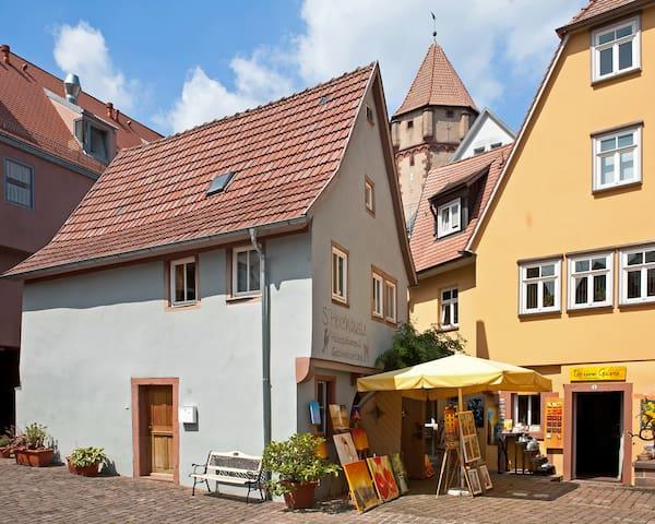 einzeln stehendes Fachwerkhaus - Wertheim - Rumah