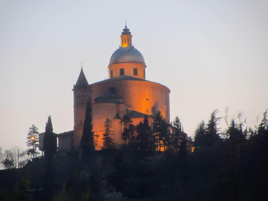 San Luca's Church seen from the park