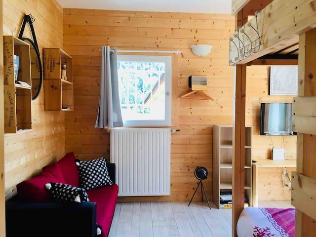 Appartement tout confort prox piste de ski et lac.