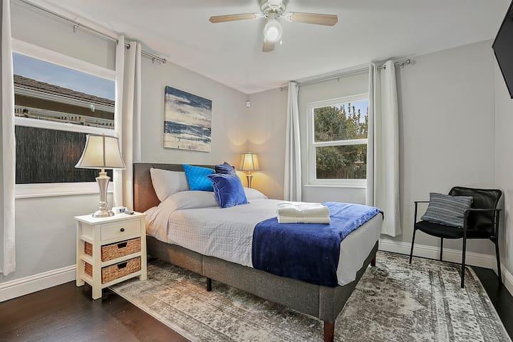 Bedroom #1: Queen bed with TV