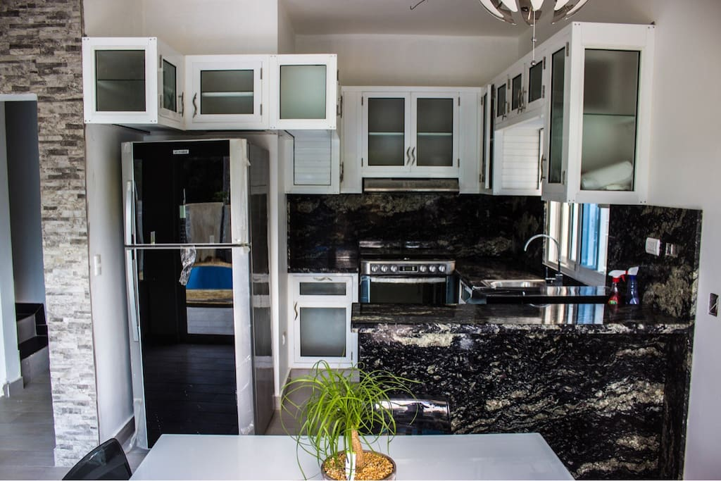 Custom Made Kitchen And Brand New Stainless Appliances
