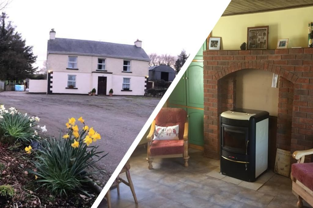 Traditional rural ireland old farmhouse cottage in for Casa tradizionale islandese
