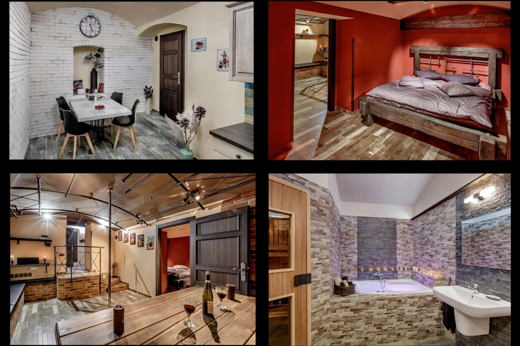 Luxury furnished apartment 80m2 with sauna apartments for Prague bathhouse
