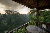 "David, Airbnb On-Line Guest Review:  ""...The View : Ohhh God!!!! Very beautiful, you can enjoy your breakfast with good view like waterfalls, fresh forest and sunrise. Very lovely..."""