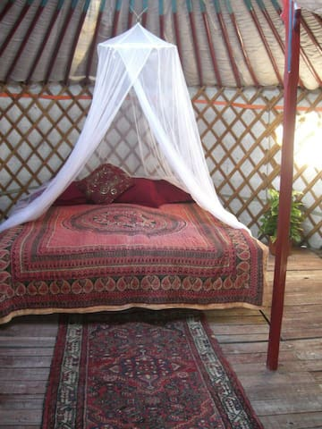 """Handcrafted Eco Yurt """"Olive""""- Hiking & Cycling"""