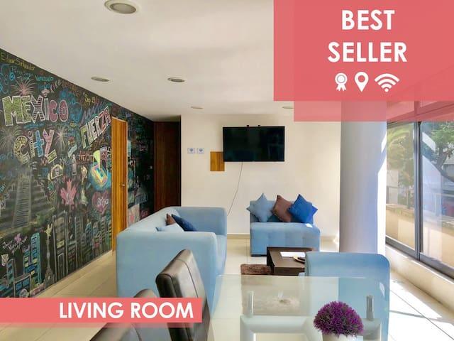 TRENDY & COZY apartment in REFORMA BEST LOCATION