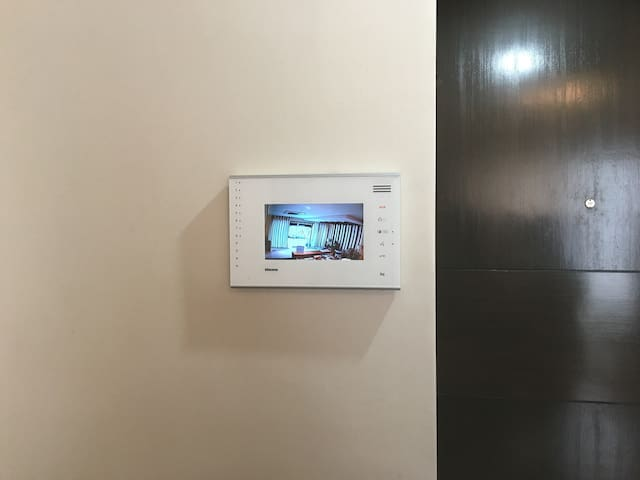 Video intercom system allows you to know who is at the reception hall / ground floor providing additional peace of mind and security.