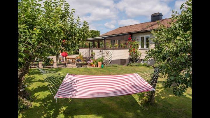 Hus på Limhamn/Sibbarp nära havet.
