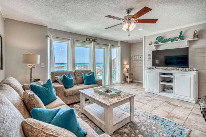New Listing! Beachfront, Ocean Views! 30A