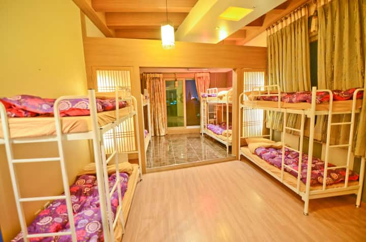 Spacious 10 bed mixed dorm with terrace in Gangnam