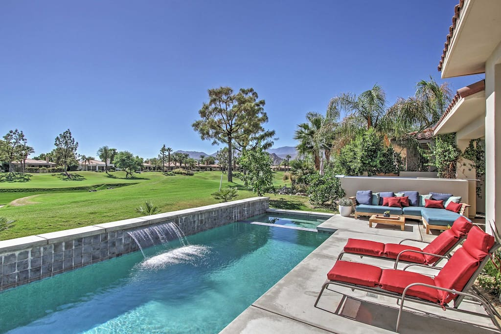You'll have unobstructed golf course views from the private pool.