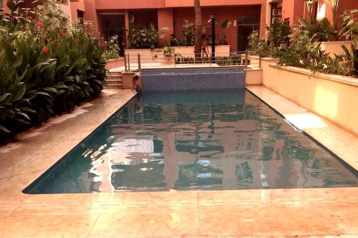 Appartement 3 pièces/piscine/wifi résidence saphir