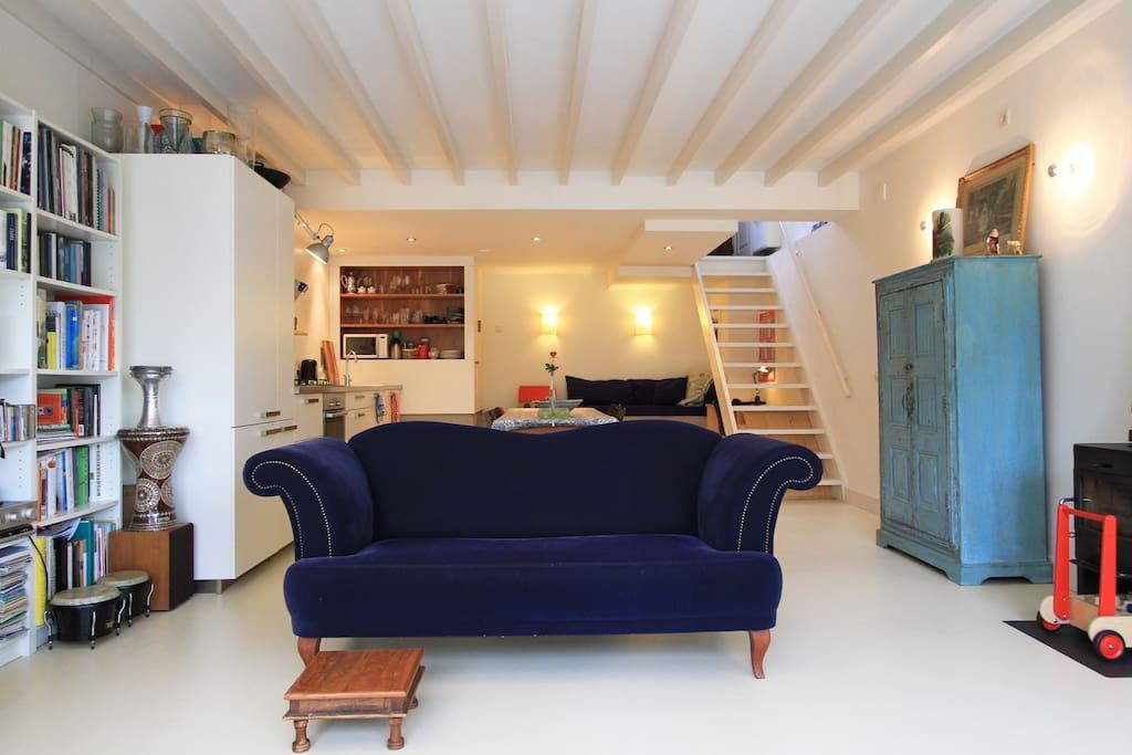 Living room dike view garden level