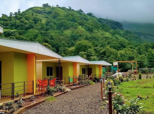 Hilltop view  Resort at Bhandardara